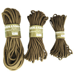 Šňůra COMMANDO pomocná 7mm COYOTE dl.15m