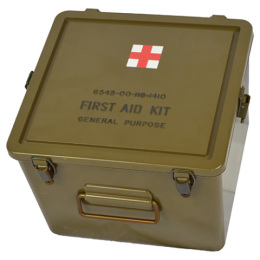 Box US original FIRST AID vodotěsný 24 x 25 x 19 cm