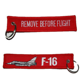 Klíčenka REMOVE BEFORE FLIGHT / F-16