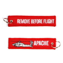 Klíčenka REMOVE BEFORE FLIGHT / APACHE