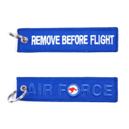 Klíčenka REMOVE BEFORE FLIGHT / AIR FORCE