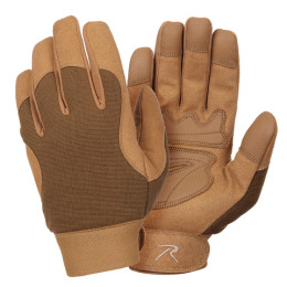 Rukavice MILITARY MECHANICS COYOTE BROWN