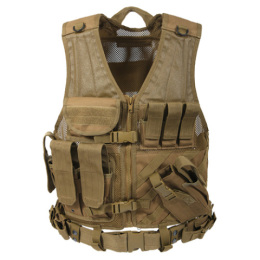 Vesta taktická CROSS DRAW MOLLE COYOTE BROWN