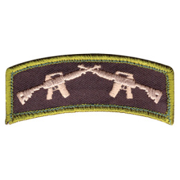 Nášivka CROSSED RIFLES velcro 3 x 7,5 cm