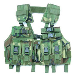Vesta chest rig RACK kopie woodland Guarder